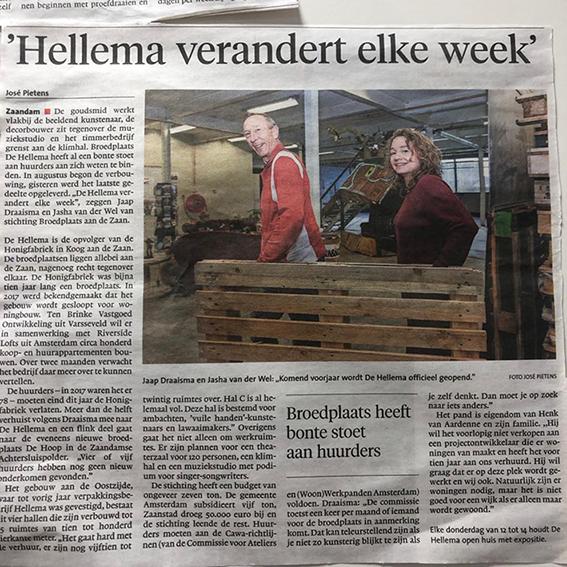 Broedplaats De Hellema verandert elke week
