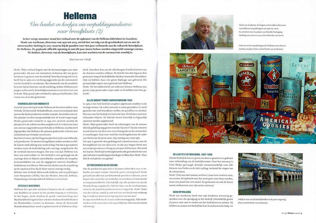 Broedplaats De Hellema - Artikel Vroeger en nu - blz 8/9